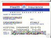 tarjeta del MEDICARE