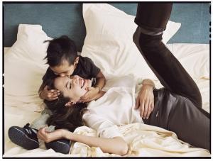 Annie Leibovitz - Angelina Jolie and son Maddox