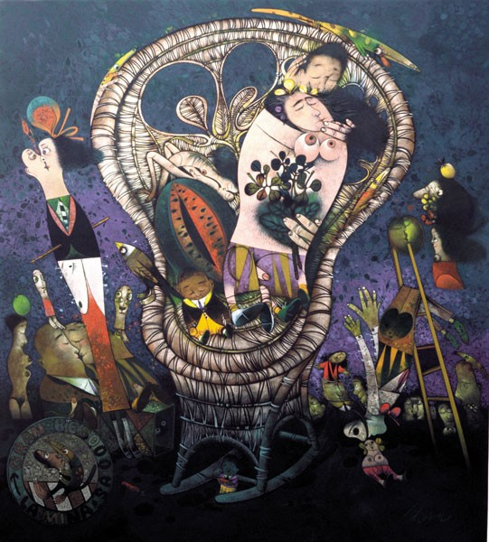 Pedro Pablo Oliva es, sin duda, su pintor predilecto.