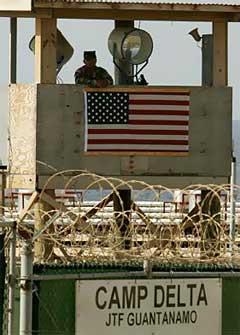 The maximum security prison Camp Delta at Guantanamo Naval Base in Cuba.