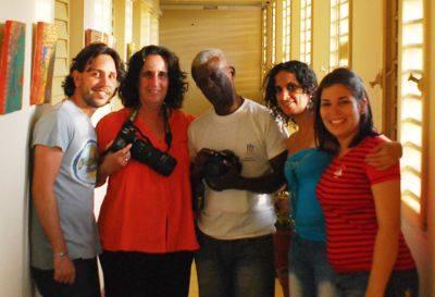 Ramón Pacheco con colegas de Vanguardia