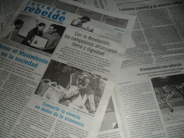 Prensa plana, sábado 17 de mayo de 2014