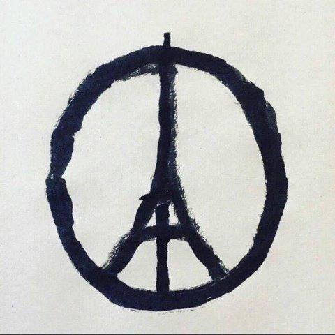 En las redes, abudan desde ayer imágenes en apoyo a Francia.