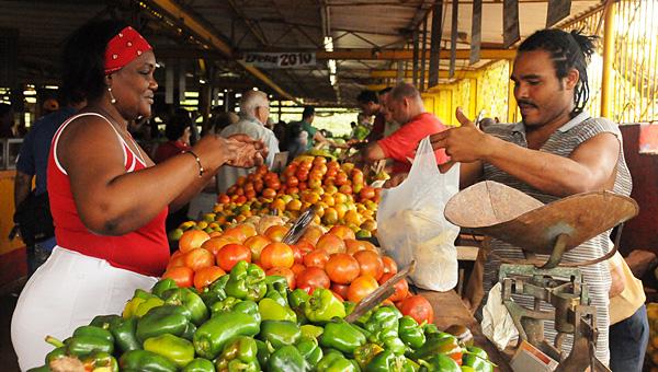 Mercado agropecuario de La Habana